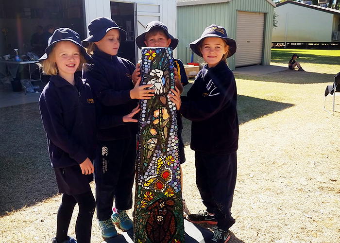 Talwood State School Mosaic with LATICRETE