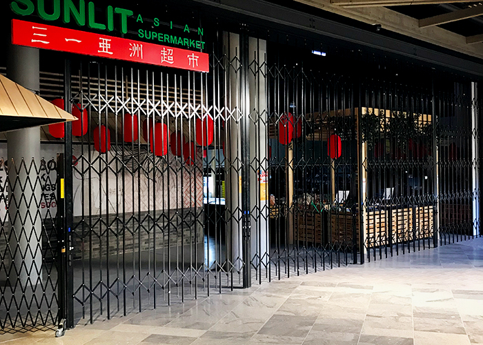Shopfront Closure Doors Queensland from Trellis Door Co
