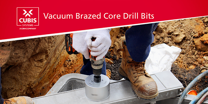 Vacuum Brazed Core Drill Bits from CUBIS Systems