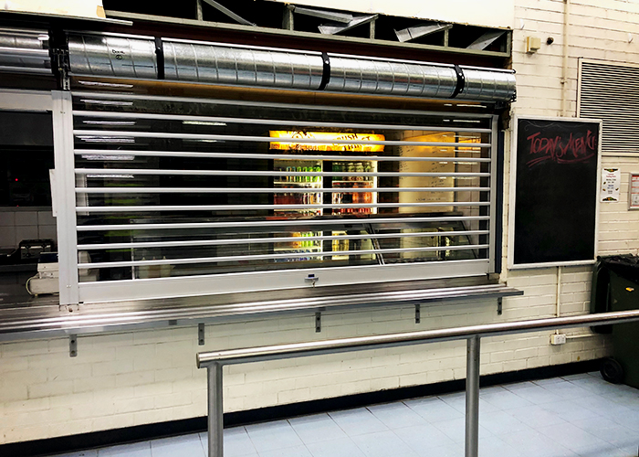 Clear Security Roller Shutters for Woolworths Distribution from ATDC