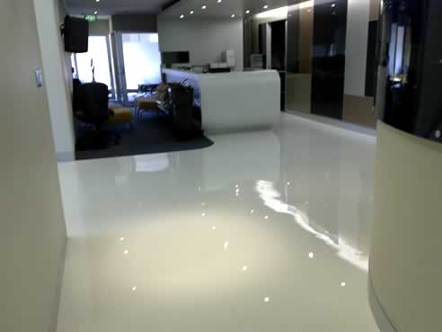 White Light Concrete Coating By AAA Sexy Floors