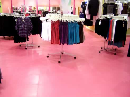 Ecotile Commercial Flooring Hot Pink For Ice Design
