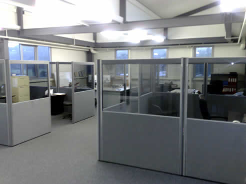 glass partitions from the partition company at the new spec net office
