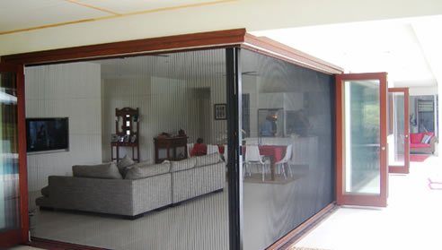 Retractable Pleated Insect Screen From Brio