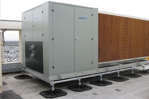 Rooftop Supports For Air Conditioning Units From Hvac Roof