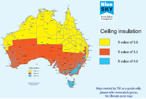 Roofing Insulation Sydney From TSF Blue Sky Insulation - Map insulation
