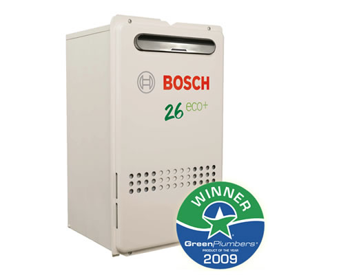 energy efficient gas hot water system bosch hot water