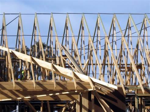 Trussspacers Improve Roof Erection Safety Mitek Australia