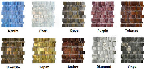Recycled Post Consumer Glass Tiles Liberty Collection