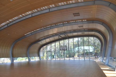 Acoustic Curved Ceiling Panel System From Supawood