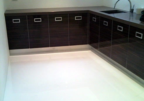 Designer Epoxy Floors In High Gloss White From Sexy Floors