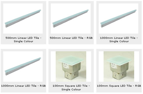 In Ground Led Tiles Optic Fibre Amp Led Lighting Solutions