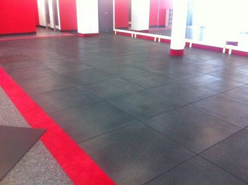 Extra Thick Heavy Duty Recycled Rubber Gym Tile Sherwood
