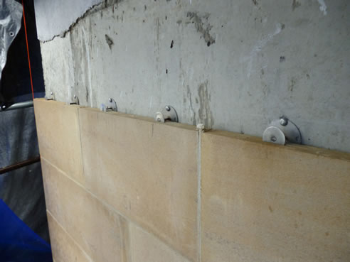 Sandstone Panel Mechanical Fixing System Stoneclip
