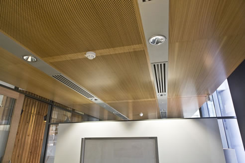 Timber Office Ceiling Panels Decor Systems