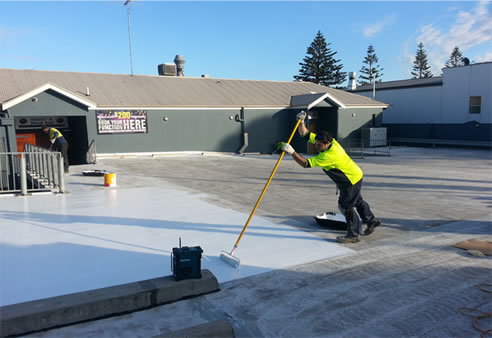 applying protective coatings to car park