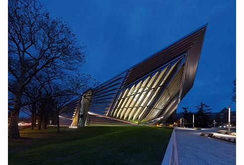 Great Light Columns Exterior Broad Art Museum Michigan Home Design Ideas