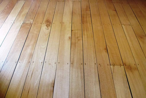 Teak Floor Finished With Hardwax Oil