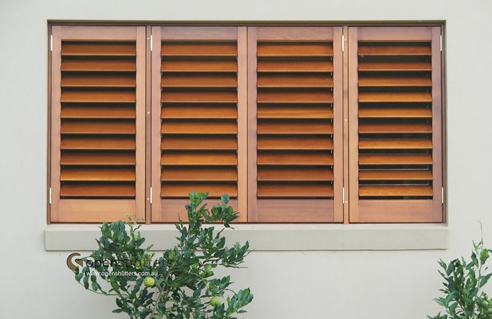 timber window shutters