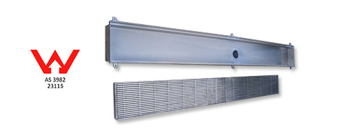 heelguard grate and trough