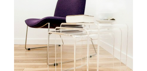Furniture fabricated from Perspex Clear acrylic from Mitchell Group