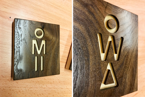 Wooden signage from Architectural Signs