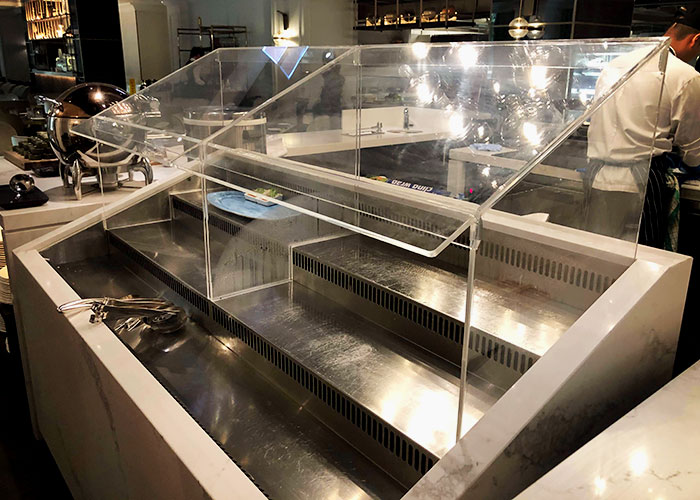 Custom Sneeze Guard Fabrication for Food Services by Allplastics