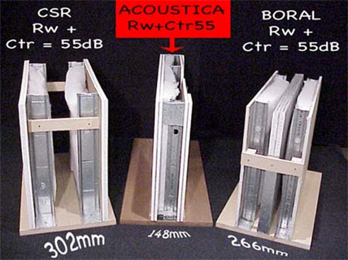 acoustica compared with csr u0026 boral wall systems
