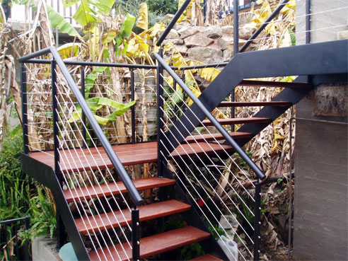Dual string stainless steel external staircases by for Modelo de escaleras de concreto para exteriores