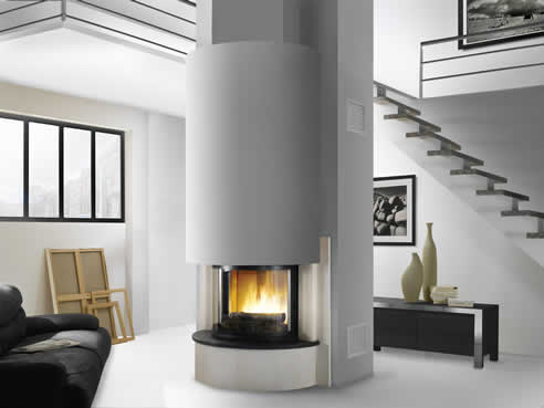 Cheminees chazelles australia loft fireplace with d180 firebox Loft fireplace