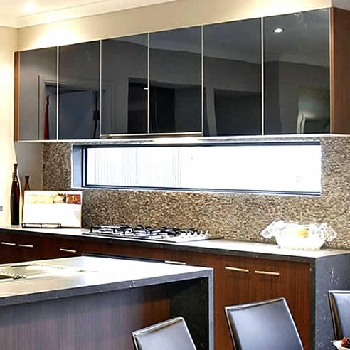 Alifrost 174 55 Slimline Aluminium Frame Kitchen Doors From Mitchell Laminates