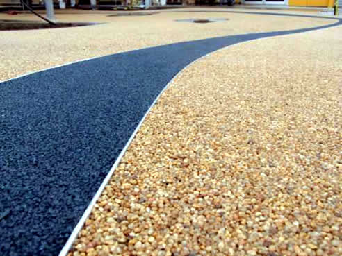 Permeable Path By Stoneset With Recycled Glass Ribbon