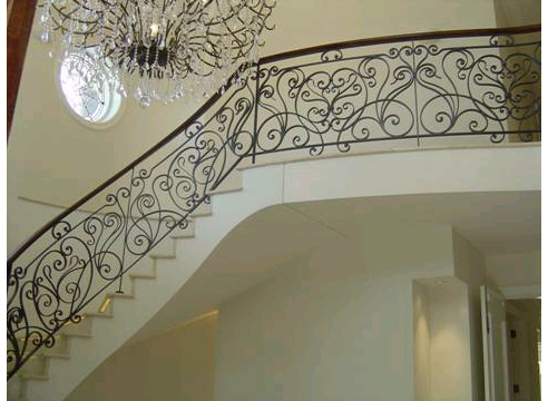 Wrought Iron Balustrade With Timber Handrail From Ironbark