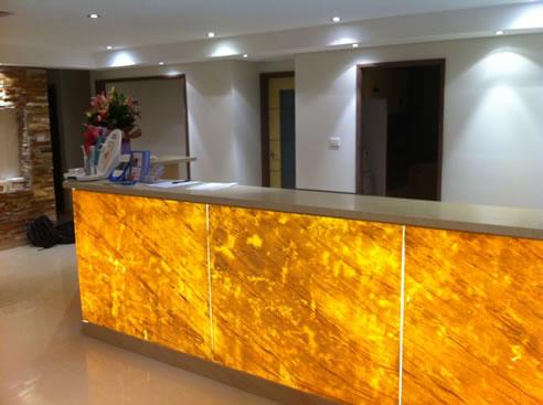 Cladstone Reception Desk Stone Design Holroyd Nsw 2142