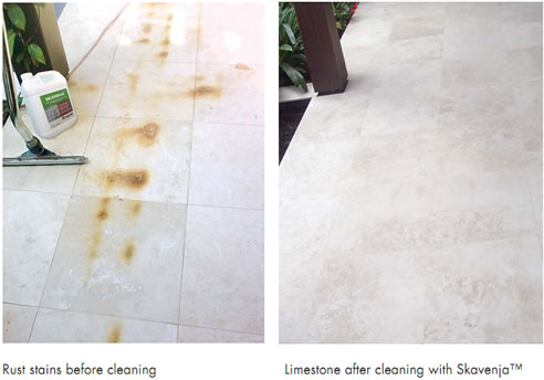 Remove Stains From Limestone With Gel Cleaner From Dry Treat
