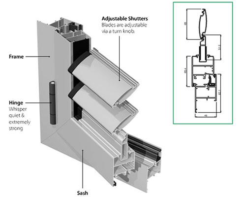 Adjustable Aluminium Shutters Euroaluminium Australia