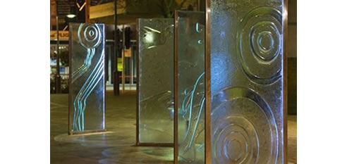 Public Art Works Moondani Glass Design Milperra Nsw 2214
