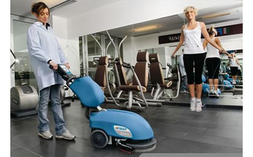 Gym Flooring Cleaning Machine Genie Scrubber Sherwood