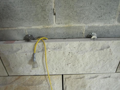 Stone Cladding Support With Stoneclips Stoneclip