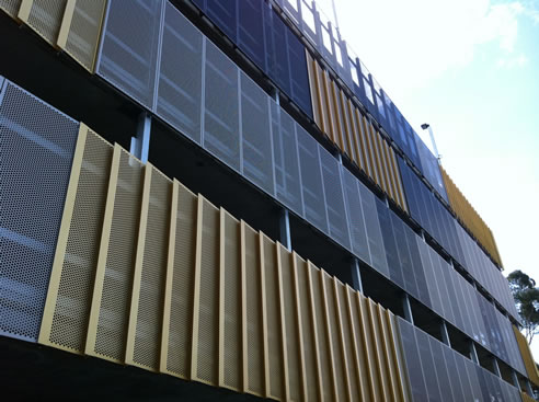 building facade aluminium screens