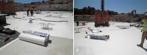 waterproof membrane application