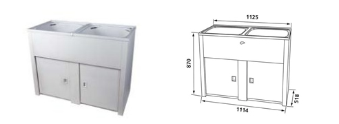 Twin Cabinet Laundry Tub Sink And Bathroom Shop
