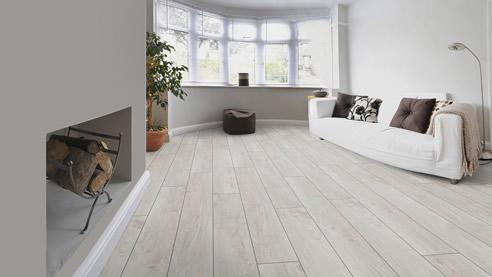 White Wash Timber Laminate Floor
