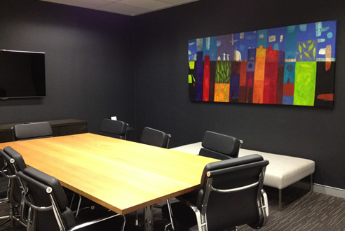 colourful boardroom artwork
