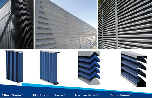 Full Chevron Louvres With Zero Vision Louvreclad