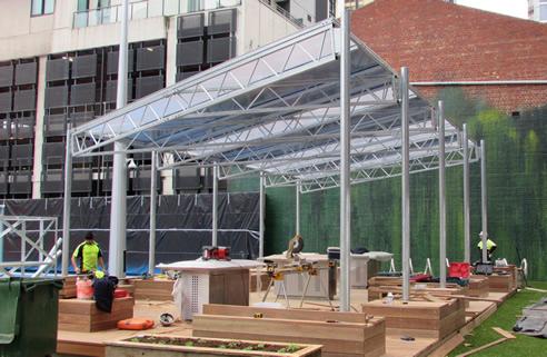 Modular Design Open Web Truss Roof Structure Hopleys