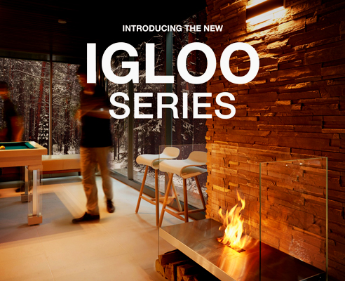 Igloo modern fireplaces from EcoSmart Fire