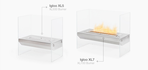 Stainless steel fireplaces from EcoSmart Fire