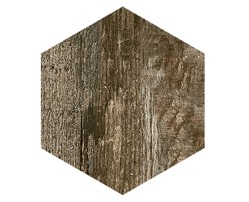 timber look hexagon tile