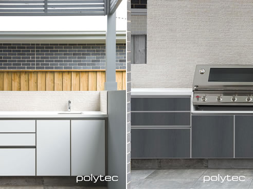 Outdoor Kitchen Cabinetry With Alfresco Range Polytec